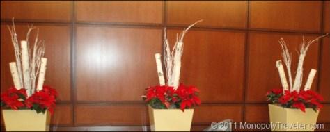 Poinsettias Mixed With Birch