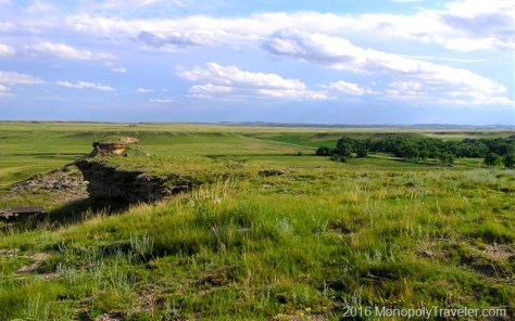 Looking out at the vast prairie