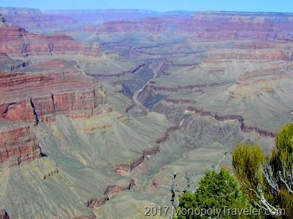 The Colorado River running through the Grand Canyon