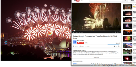 2015 New Years Eve Fireworks in Sydney Australia