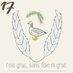 Illustration calendrier de l'avent 2015 - jour 17 - un faux foie gras végétarien, sans foie ni gras