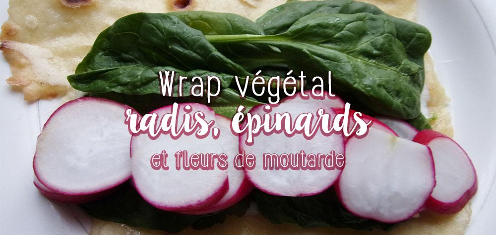 Recette de Wrap au radis et fleurs de moutarde