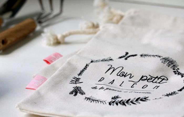pochette à vrac KUFU en coton bio dans la première box jardinage écoresponsable pour citadins sur balcon