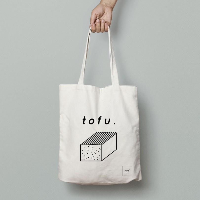 tote bag totfu du concept store vegan à Paris, Aujourd'hui Demain
