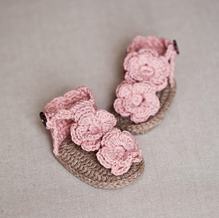 Flowery Flip Flops