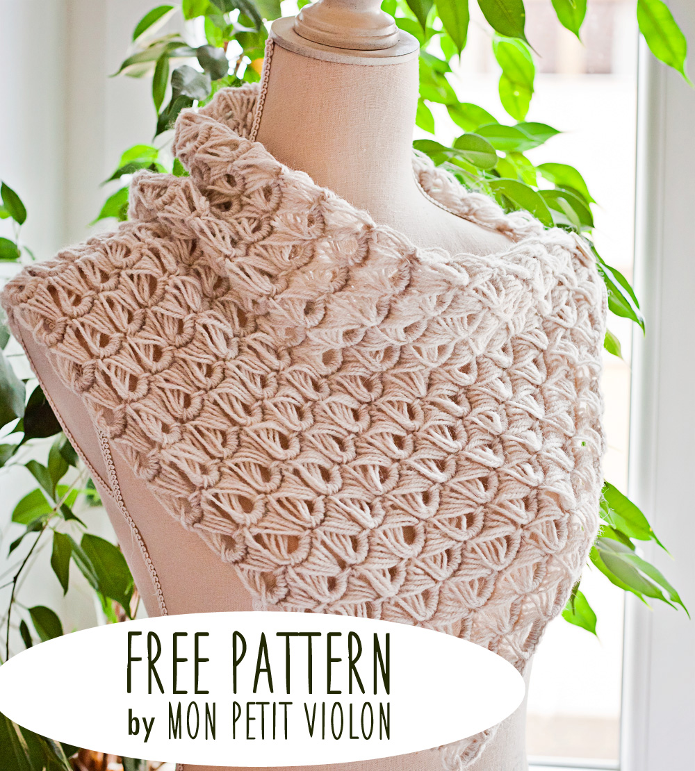 Free pattern - Broomstick Lace Cowl