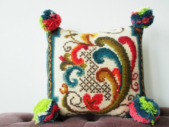 Anthropology inspired pillow
