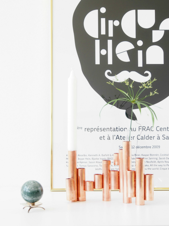 DIY-copper-tube-vases-and-candle-holder