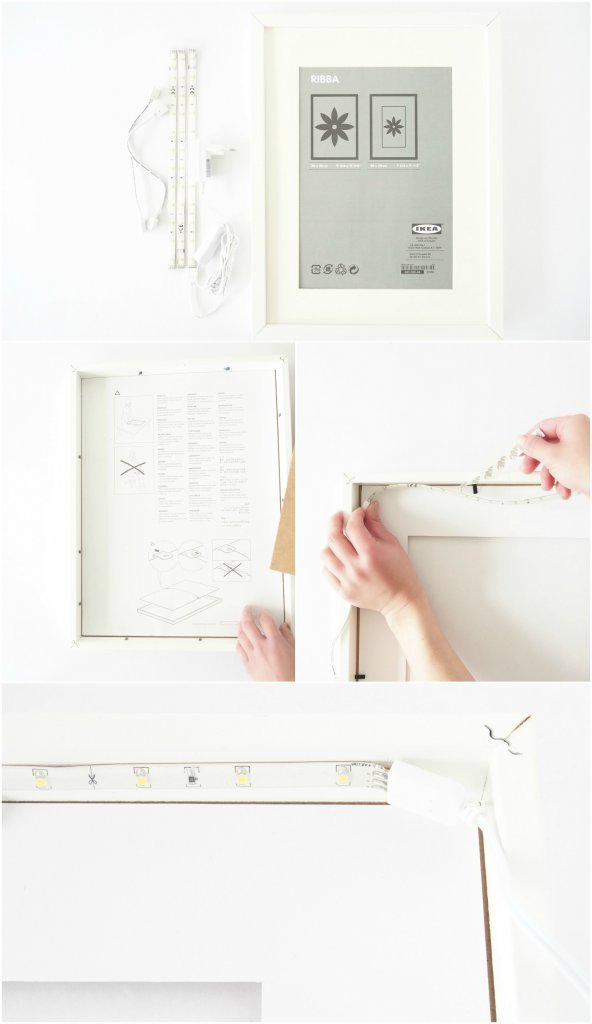 DIY-Frame-Lamp-IkeaHack-Tutorial @monsterscircus