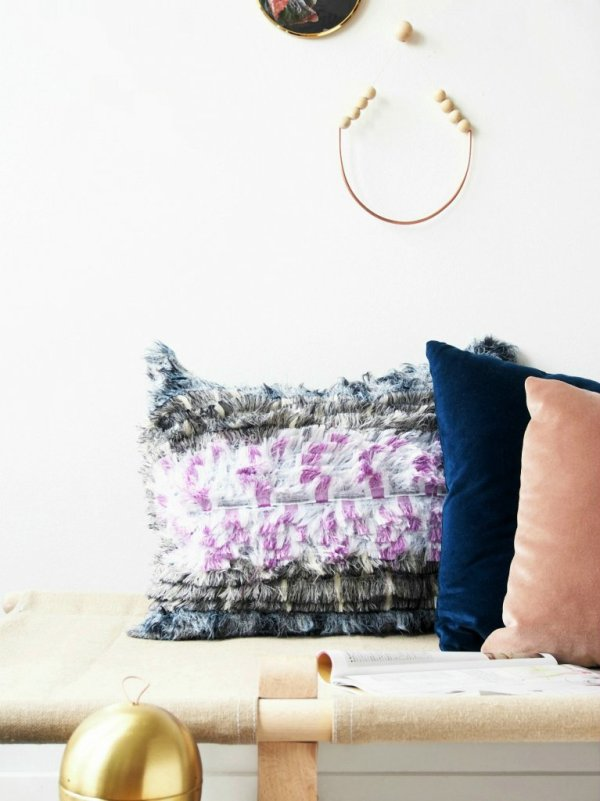 Diy Boho Throw Pillows : DIY Bohemian No-Sew Pillows - monsterscircus