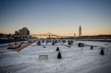 Ice Fishing Village in Vieux Port de Montréal