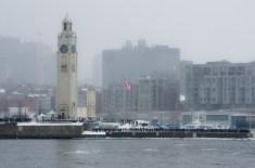 Crowds line the Clock Tower Quay