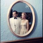 UNITED STATES - JANUARY 01:  VP Richard Nixon and his wife Pat in formal dress reflected in oval mirror.  (Photo by Hank Walker/Time & Life Pictures/Getty Images)