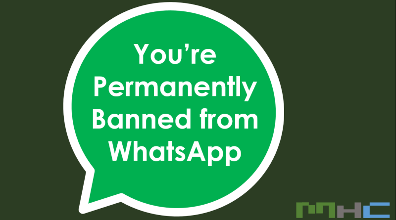 Permanently Banned from WhatsApp