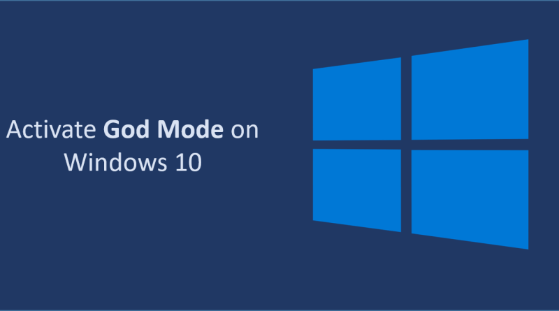 activate god mde on windows 10