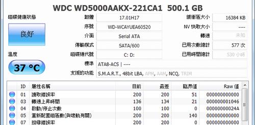 硬碟檢測維護工具 CrystalDiskInfo