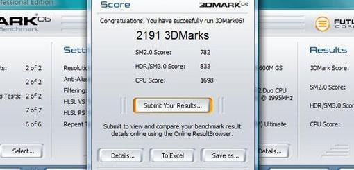 顯示卡測試軟體 3DMark06