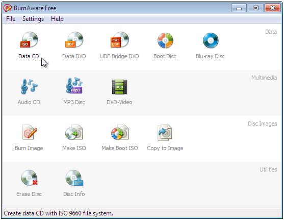 免費燒錄軟體下載 BurnAware Free Edition
