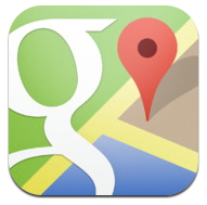 iphone google map app
