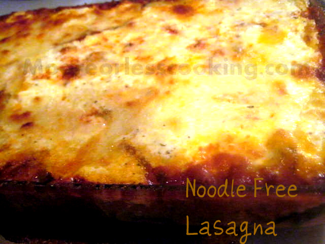 Noodle Free Lasagna ( Zucchini instead of Noodles)