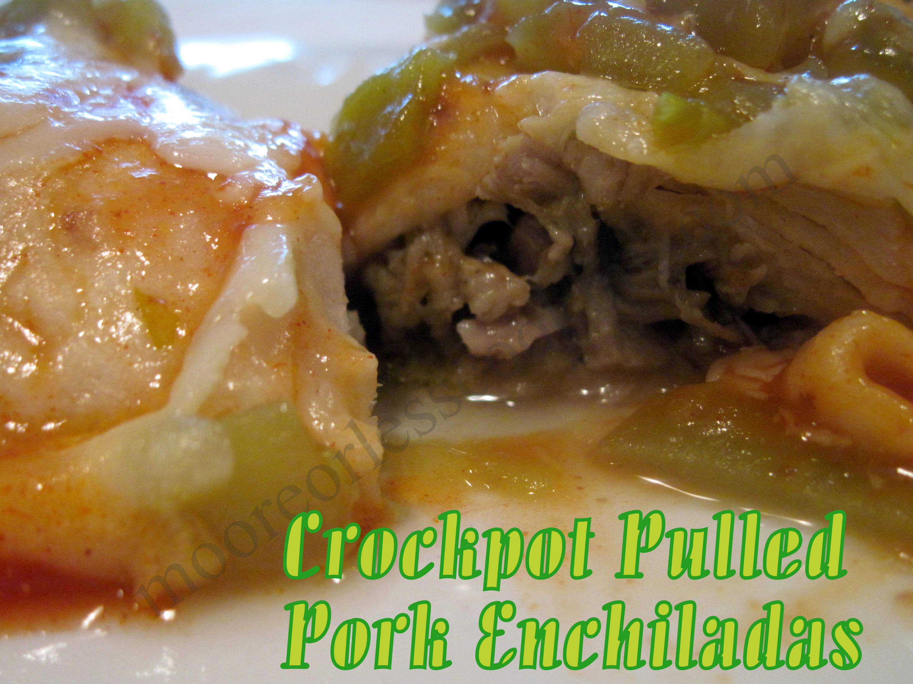 Crock Pot Pulled Pork Enchiladas