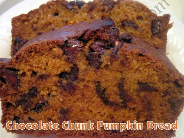 Chocolate Chunk Pumpkin Bread