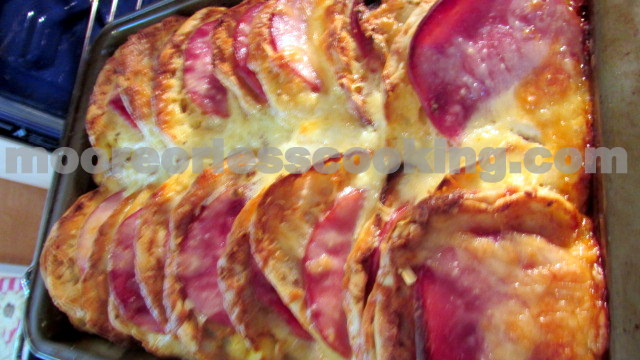 English Muffin, Ham and Egg Strata ( Overnight Bake) | Moore or Less ...