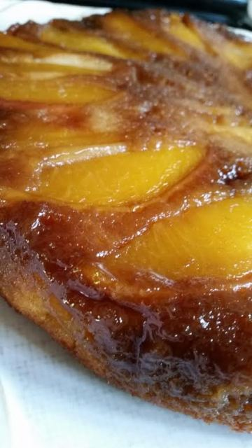 Upside-Down Peach Cake