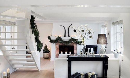 Decoración minimalista y creativa para Navidad