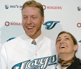 Roy & wife Brandy Halladay