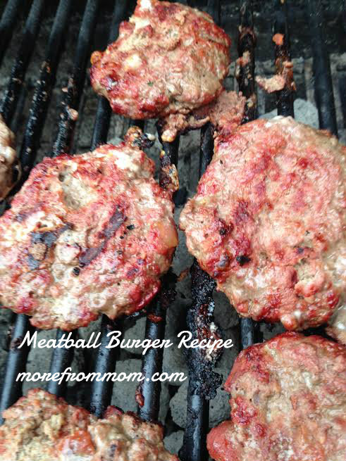 grilling meatball burgers 1