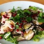 MTT: Roast Aubergine and Courgette Salad With Pomegranate