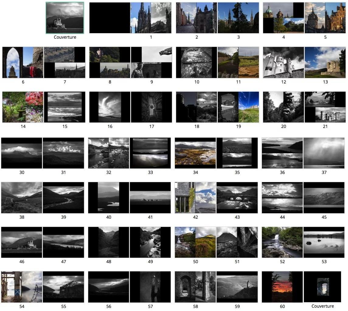 Livre de photographies Écosse 2015