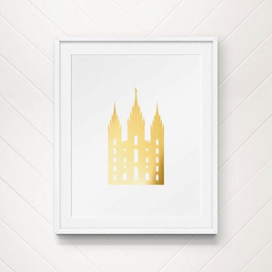 gold temple print