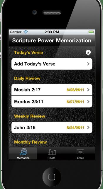 Memorize Scriptures With The Scripture Power Memorization App