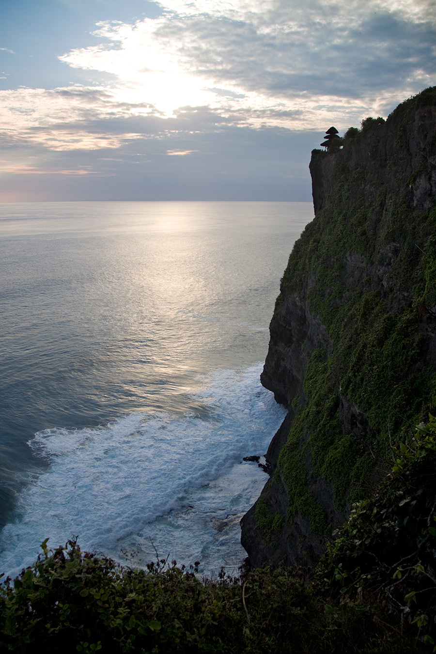 A temple on a cliff in Uluwatu, Bali.