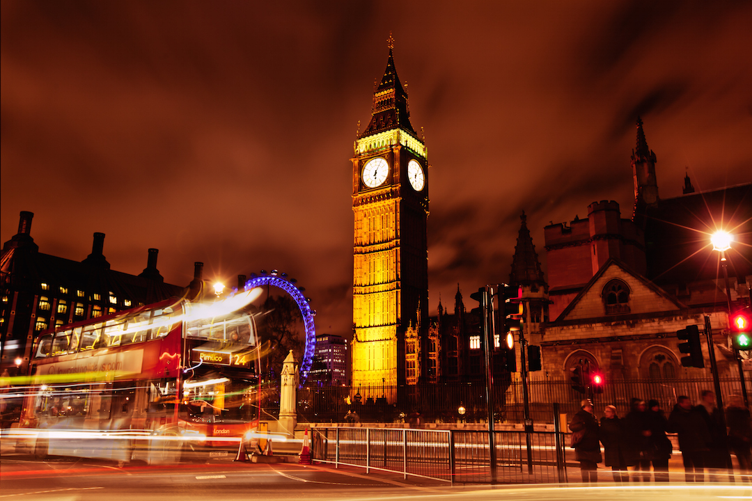 Big Ben bus stop. Canon 5DMK2+16-35mm, 8s at f/8, ISO 100.