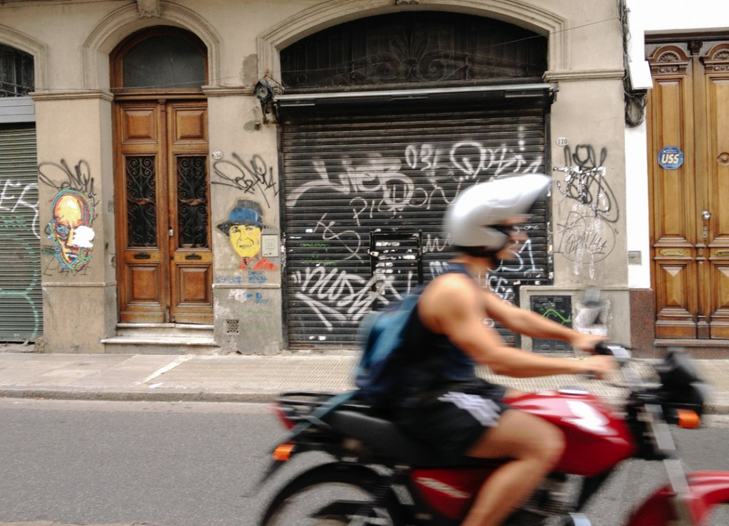 Motorcycle man in Buenos Aires