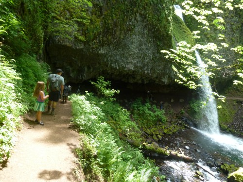 Ponytail Falls, also known as Upper Horsetail Falls