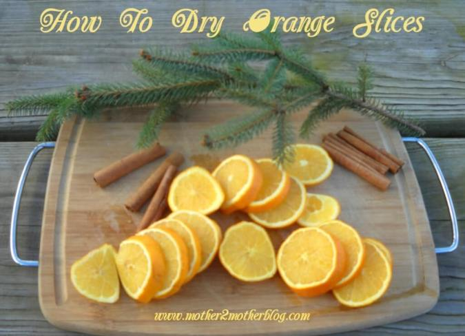 dried oranges, dried fruit, Christmas displays