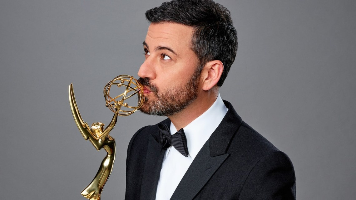Jimmy Kimmel hosts the 2016 Emmys, which airs this Sunday night (Photo courtesy: Jeff Lipsky/ABC)