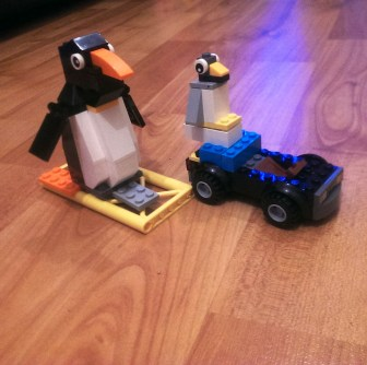 Penguins by Me. Car and Skateboard by Master Builder Mushroom