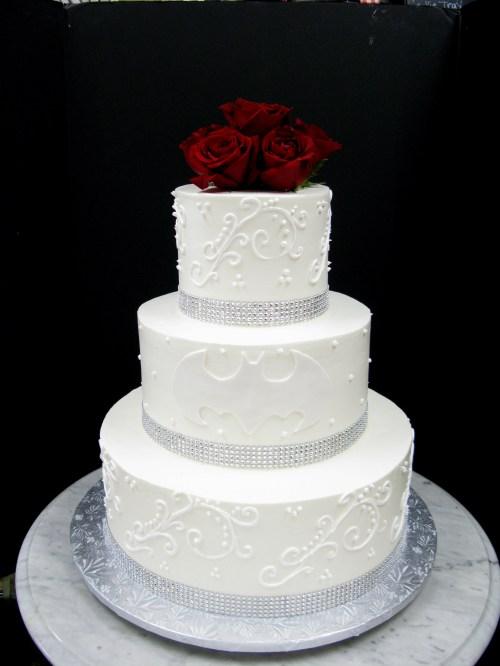 Medium Of Batman Wedding Cake