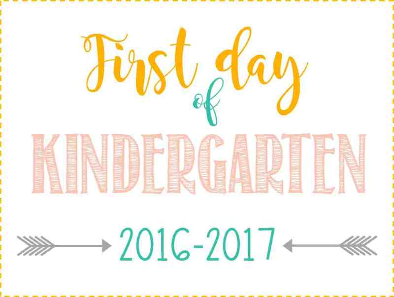 Large Of First Day Of Kindergarten Sign