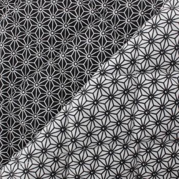 tissu-matelasse-saki-noir-blanc