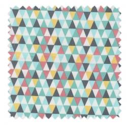 tissu-triangles-vert-eau-noir