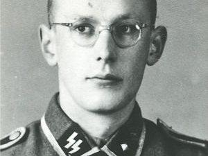 Former Auschwitz-Birkenau guard Oskar Groening as a young man in an SS uniform.