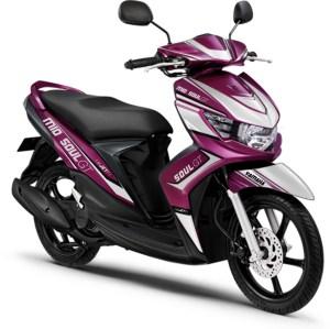 Modif Striping Mio Soul GT 2013 warna Purple, striping asik biaya unik!!