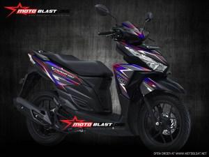 Modifikasi Honda Vario 125 – 150Esp Black super carbon Rainbow
