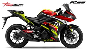 Graphic Kit Yamaha R25 RED Racing Style
